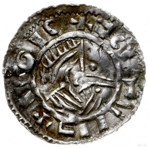 naśladownictwo denara typu small cross; Aw: Popiersie w...