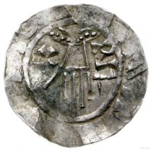 denar 1014-1024; Aw: Dłoń opatrzności, po bokach RE X, ...
