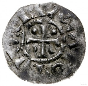 denar ok. 994-1016; Aw: Napis poziomy EISBISIIS DOISIIS...