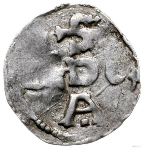 denar 973-1002; Aw: Popiersie w lewo, OTTO GRA...; Rw: ...