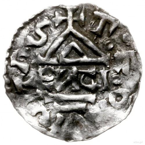 denar 976-982, mincerz Anti; Krzyż z czterema kulkami w...