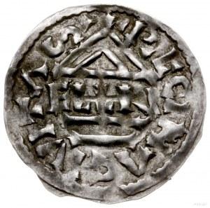 denar 985-995, mincerz Aljan; Krzyż z kółkiem i dwiema ...