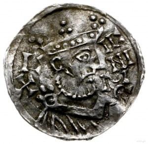 denar 1009-1024, mincerz Id; Popiersie króla w prawo / ...