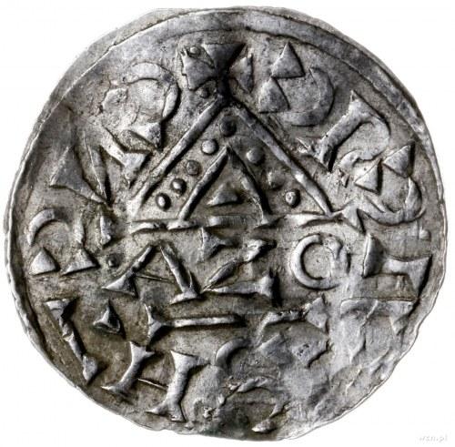 denar 1018-1026, mincerz Aza; Napis HEINRICVS DVX wkomp...