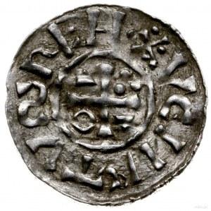 denar 1002-1009, mincerz Aig; Krzyż z kółkiem, dwoma tr...