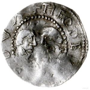 denar 987-1027; Aw: Dwa popiersia zwrócone ku sobie; Rw...