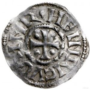 denar 1002-1024; Aw: Krzyż z kulkami w kątach, HEINRICV...
