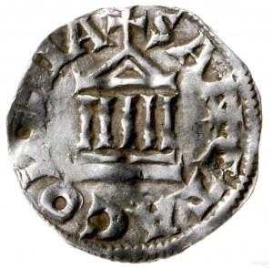 denar 1024-1036; Aw: Krzyż, w kątach PI-LI-GR-IM, wokoł...