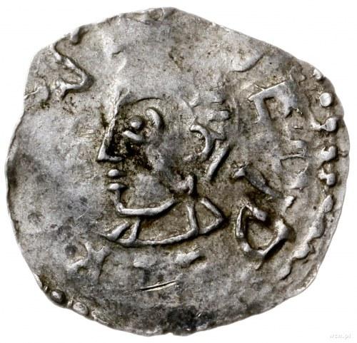 denar 1005-1046; Aw: Popiersie w lewo, DEODERICVS EP; R...