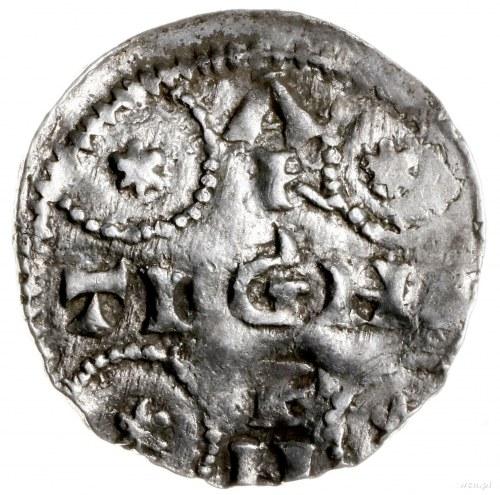 denar 1002-1024; Aw: Korona; Rw: Napis ARGENTINA w form...