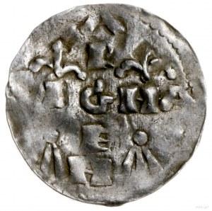 denar 1024-1039; Aw: Popiersie króla w lewo; Rw: Napis ...