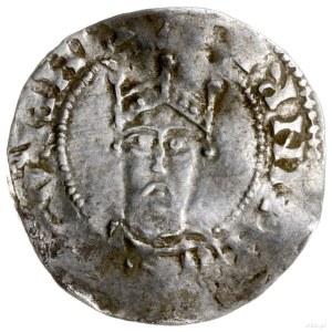 denar 1002-1024; Aw: Popiersie króla na wprost; Rw: Nap...
