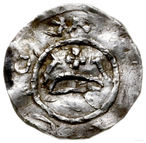 denar z lat ok. 1013-1025; Aw: Wzgórze z krzyżem, po bo...