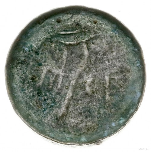 naśladownictwo denara krzyżowego z końca XI w.; Aw: Dło...