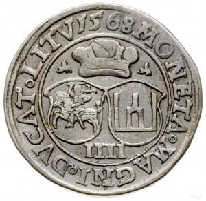 czworak 1568, Wilno; końcówki napisów L/LITV, tarcze he...