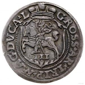 trojak 1563, Wilno; monogram bez prążków, końcówki napi...