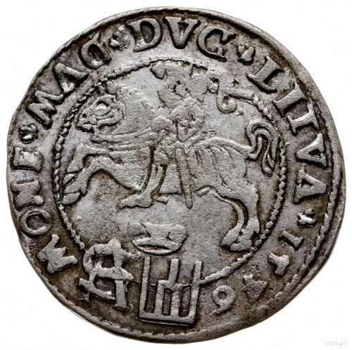 grosz na stopę polską 1546, Wilno; odmiana z datą w oto...