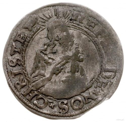 grosz oblężniczy 1577, Gdańsk; odmiana z kawką na awers...