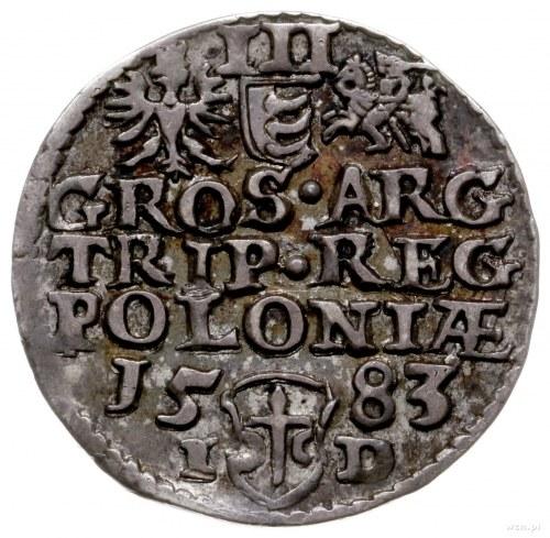 trojak 1583, Olkusz; odmiana z literami I-D przedzielon...