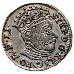 trojak 1582, Wilno; herb Batorych nad napisem na rewers...