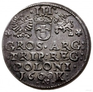 trojak 1600, Kraków; popiersie w lewo, z tytulaturą kró...