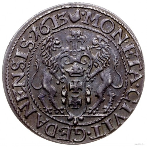 ort 1613, Gdańsk; kropka za łapą niedźwiedzia, bez krop...