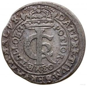 złotówka (tymf) 1663, Lwów; prz POL ozdobniki duże; Szł...