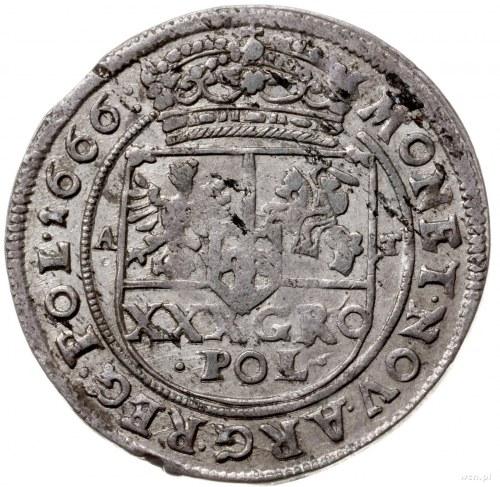 złotówka (tymf), 1666, Bydgoszcz; z błędem w napisie SE...
