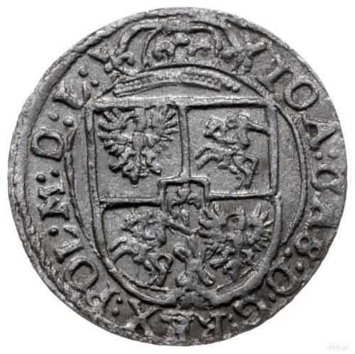 półtorak 1652, Wilno, odmiana z 06 w jabłku królewskim;...