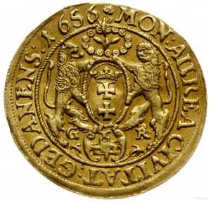 dukat 1656, Gdańsk; Aw: Popiersie króla w prawo i napis...
