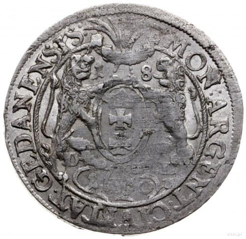 ort 1660, Gdańsk; odmiana z popiersiem bez rękawa, z ko...