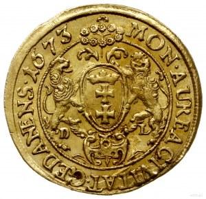 dukat 1673, Gdańsk; Aw: Popiersie króla w prawo i napis...
