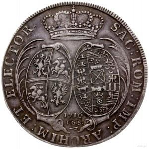 talar 1716, Drezno; Aw: Popiersie w prawo i napis wokoł...