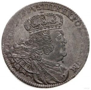 dwuzłotówka (8 groszy) 1761, Lipsk; masywne popiersie k...