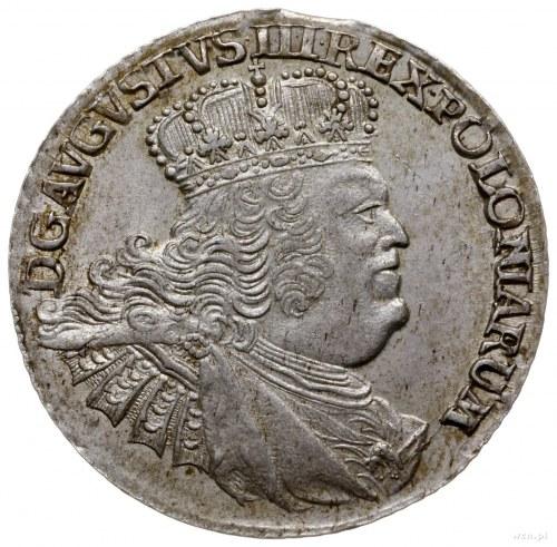 ort 1756, Lipsk; masywne popiersie z nieco owalną koron...