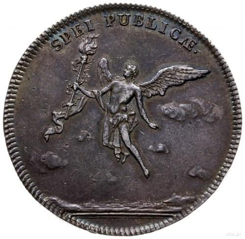 gulden zaślubinowy (2/3 talara) 1747, Drezno; moneta wy...