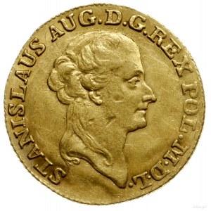 dukat 1787, Warszawa; Aw: Głowa króla w prawo, napis wo...