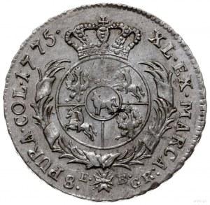 dwuzłotówka 1775 EB, Warszawa; Plage 326, Berezowski 3 ...