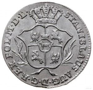 półzłotek 1769 IS, Warszawa; wariant z wieńcem z drobny...