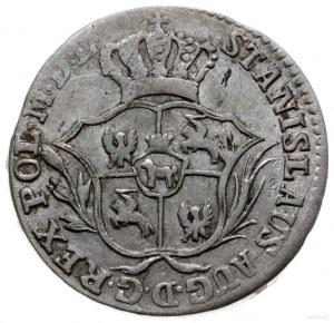 półzłotek 1775 EB, Warszawa; wieniec wąsko związany, ma...