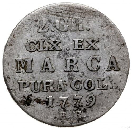 półzłotek 1779 EB, Warszawa; Plage 266, Berezowski 5 zł...
