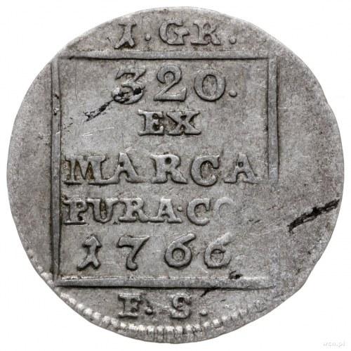 grosz srebrny 1766 FS, Warszawa; bez napisu po bokach r...