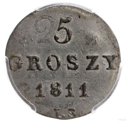 5 groszy 1811 IS, Warszawa; odmiana z inicjałami IS (mi...