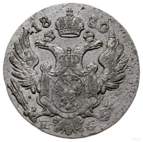 10 groszy 1830 KG, Warszawa; odmiana z inicjałami K-G (...