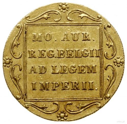 dukat 1831, Warszawa, odmiana z kropką przed pochodnią;...