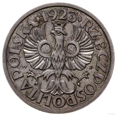 5 groszy 1923, Warszawa; bez napisu PRÓBA; Parchimowicz...