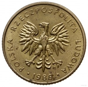 10 złotych 1989, Warszawa; Nominał 10, bez napisu PRÓBA...