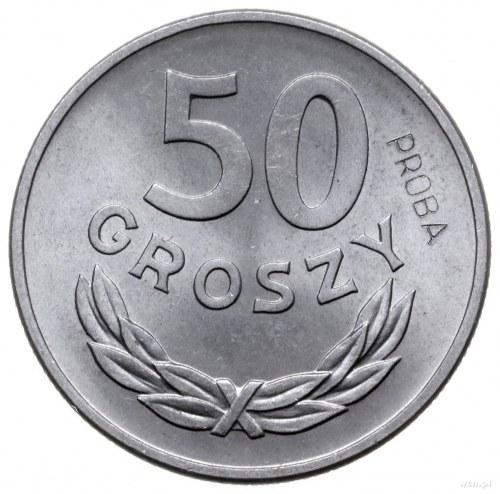 50 groszy 1949, Warszawa; Nominał 50, na rewersie wklęs...