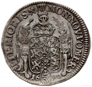 gulden (2/3 talara) 1690, Szczecin; odmiana napisu CARO...