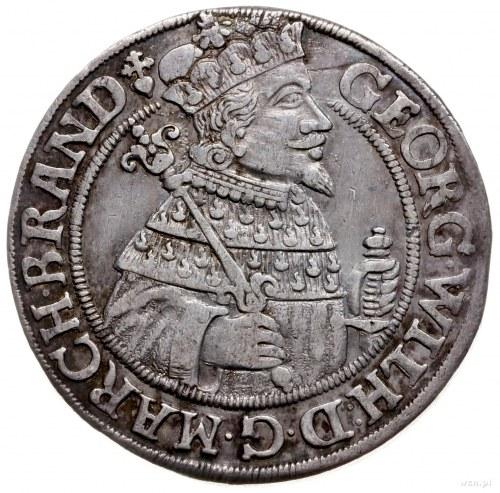 ort 1625, Królewiec; znak menniczy na awersie na końcu ...